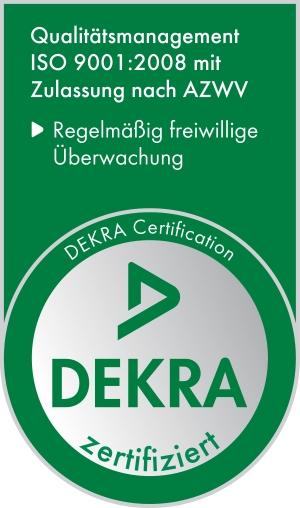 emcra ist entsprechend AZWV und ISO 9001 zertifiziert